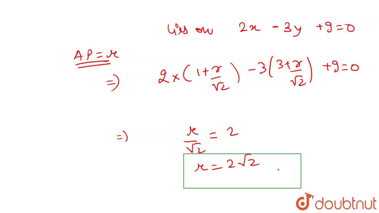 Solution for A line through point A(1,3) and parallel to the li