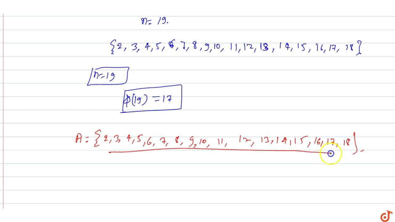 Solution for If phi(n) denotes the number of positive integer