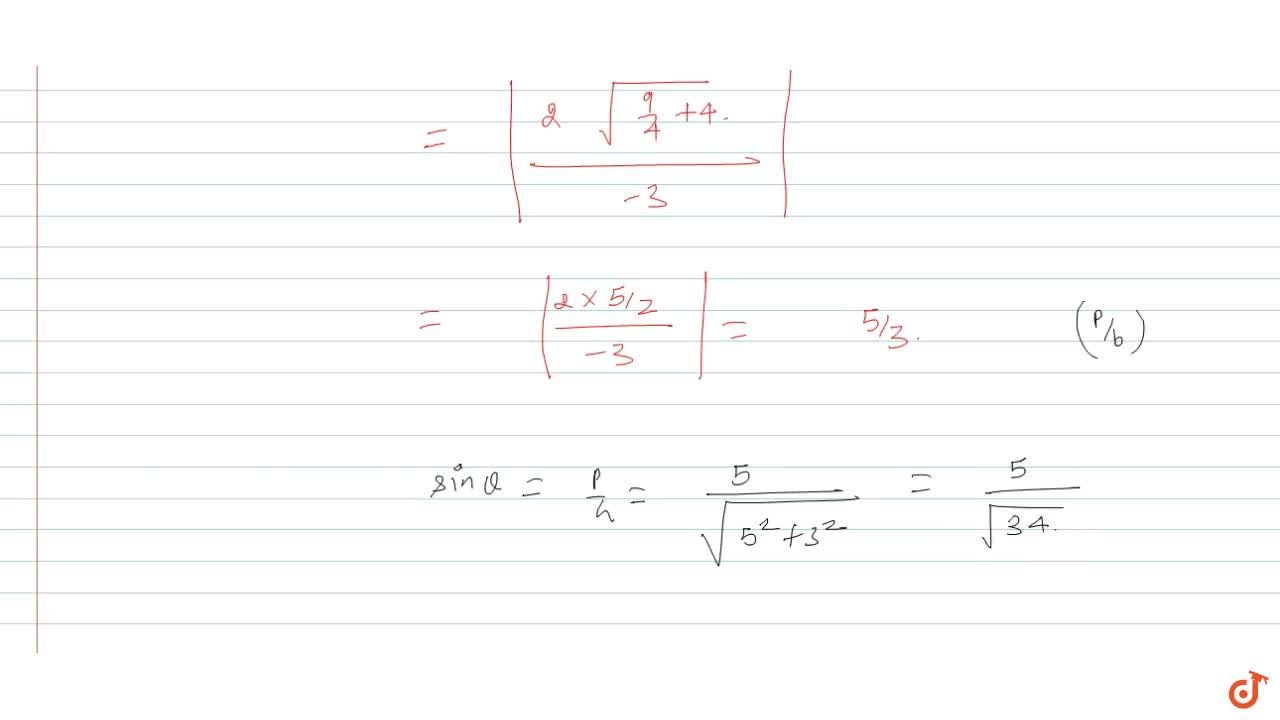 Solution for If theta is the acute angle between the pair of
