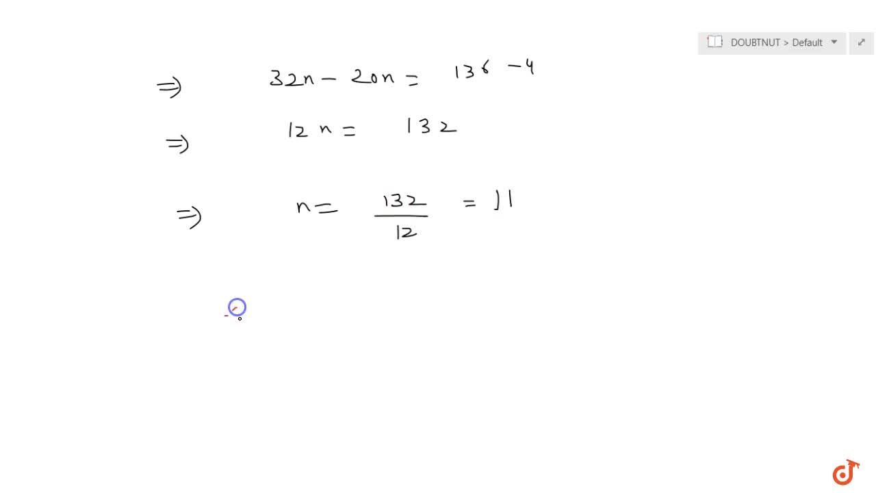 Solution for The sum of the first n terms of an AP whose first