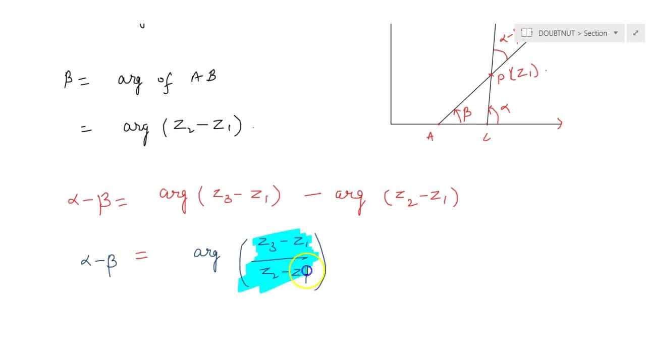 Solution for COMPLEX NUMBERS | PROPERTIES OF ARGUMENTS OF A COM
