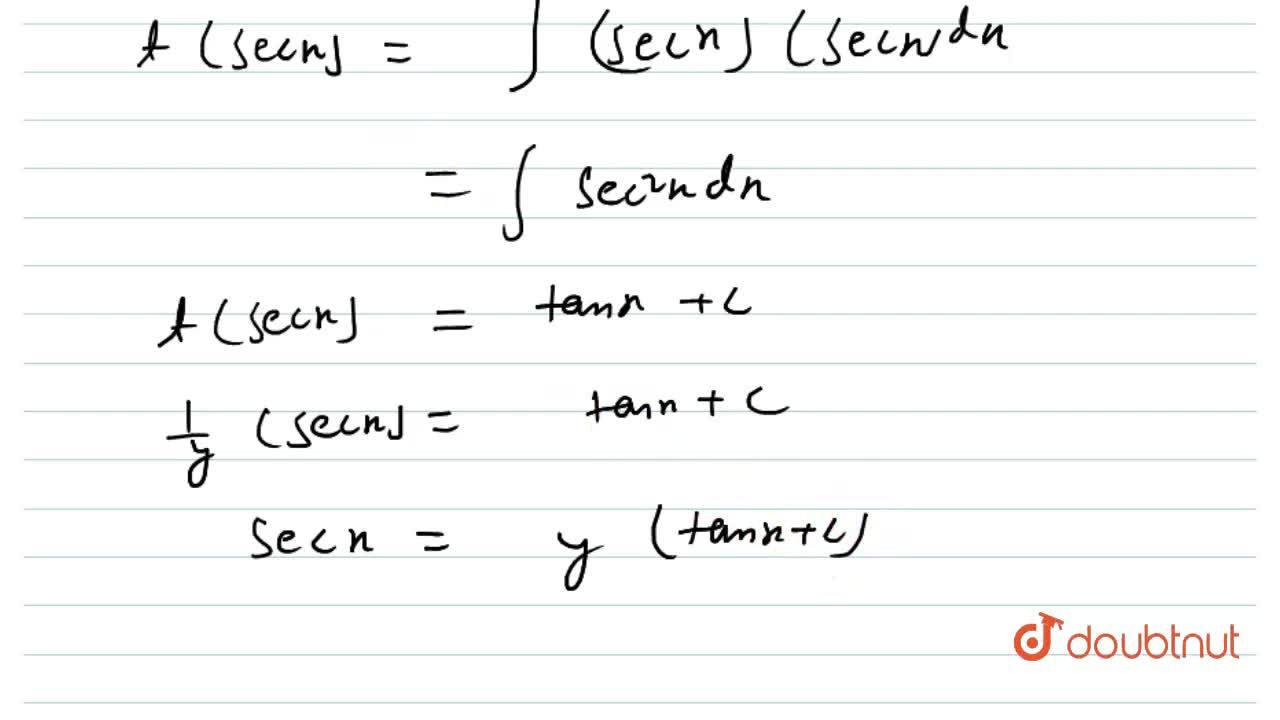 Solution for The general solution of the differential equation