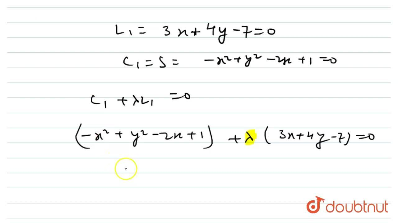 Solution for The order of differential equation of family of ci