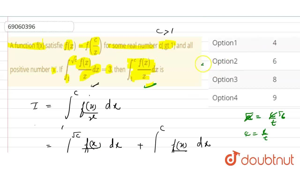 Solution for A function f(x) satisfie f(x)=f((c),(x)) for som