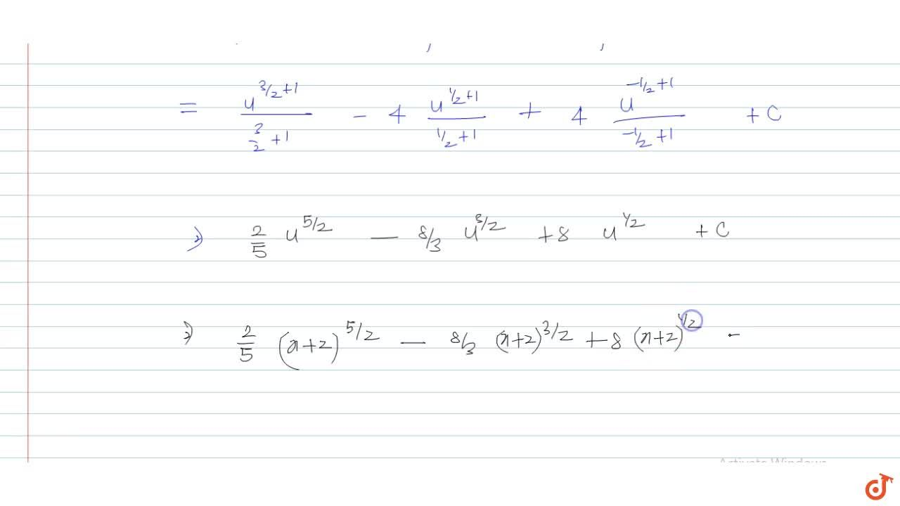 Solution for Integrate the following function: x^2,(x+2)^(1,2)