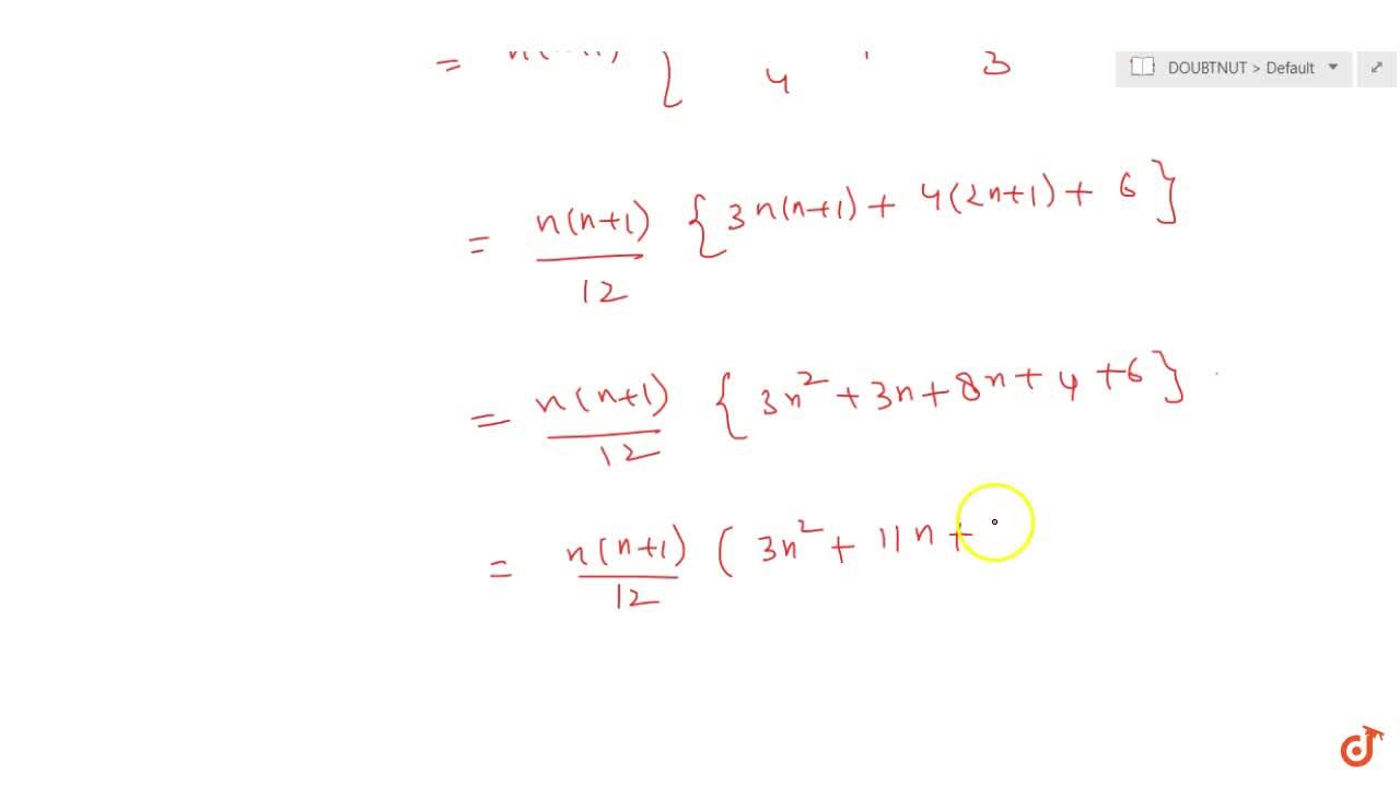 Find the sum to n terms of the series 1*2^2 + 2*3^2 + 3*4^2 + ...