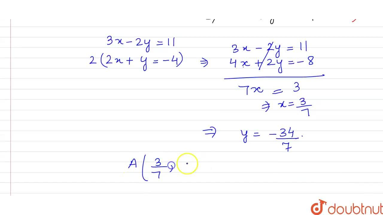 The othocenter of DeltaABC with vertices B(1,-2) and C(-2,0) is H(3,-1).Find the vertex A.