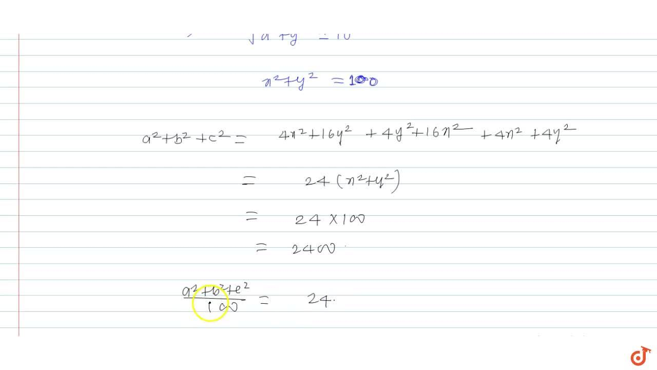 Solution for In a triangle ABC the median from B to CA is