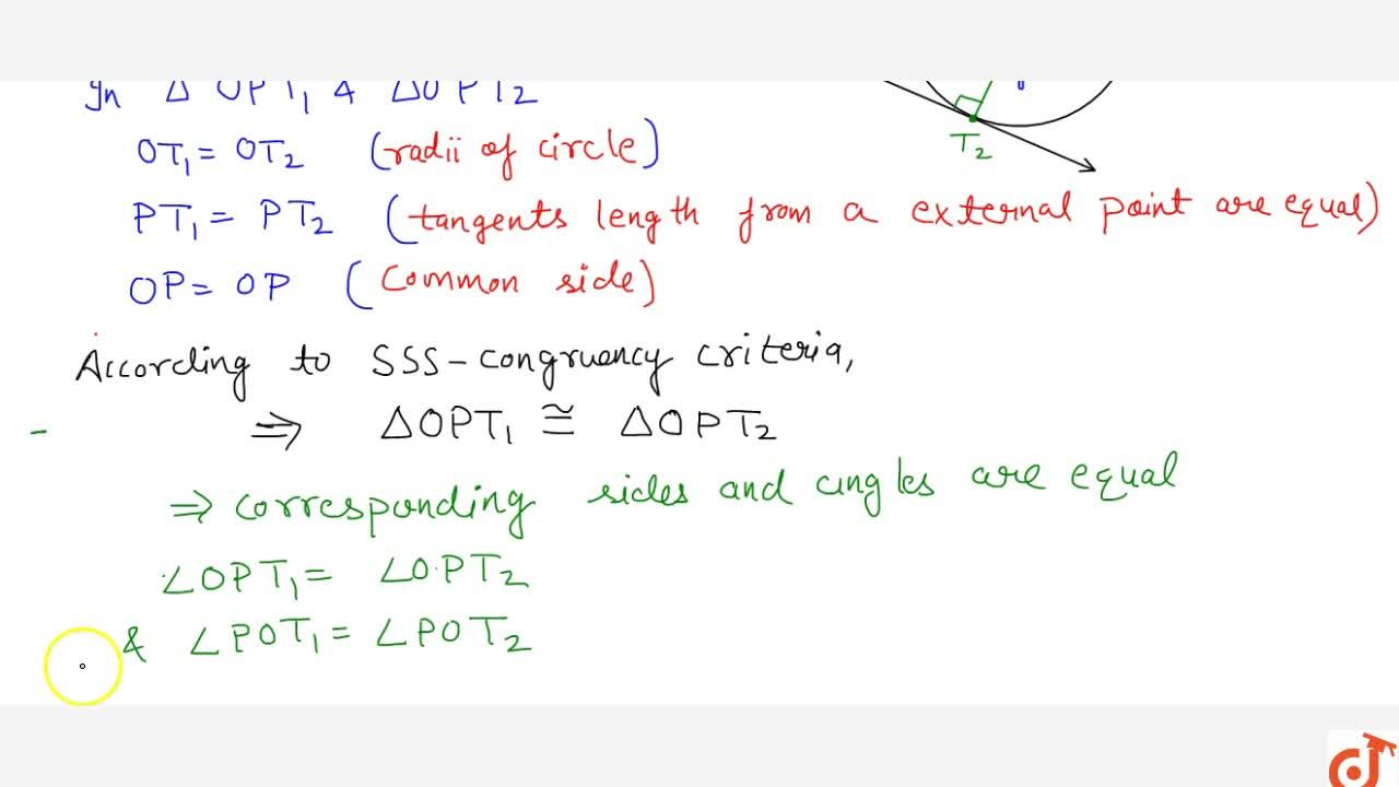 Solution for CIRCLES   SECANT AND TANGENT, SOME PROPERTIES OF T