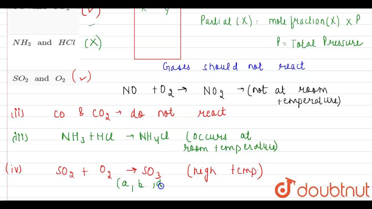 Solution for Which of the following mixtures of gases at room t