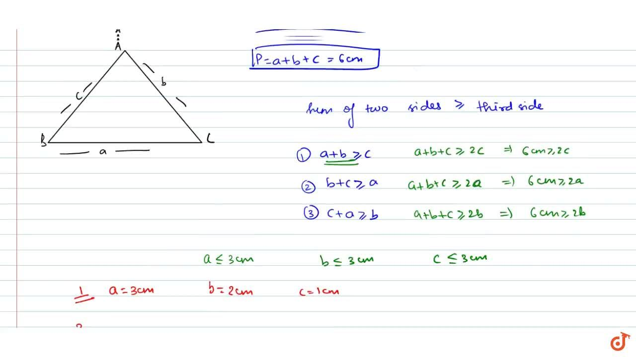 Solution for The lengths of the sides of a triangle are integra