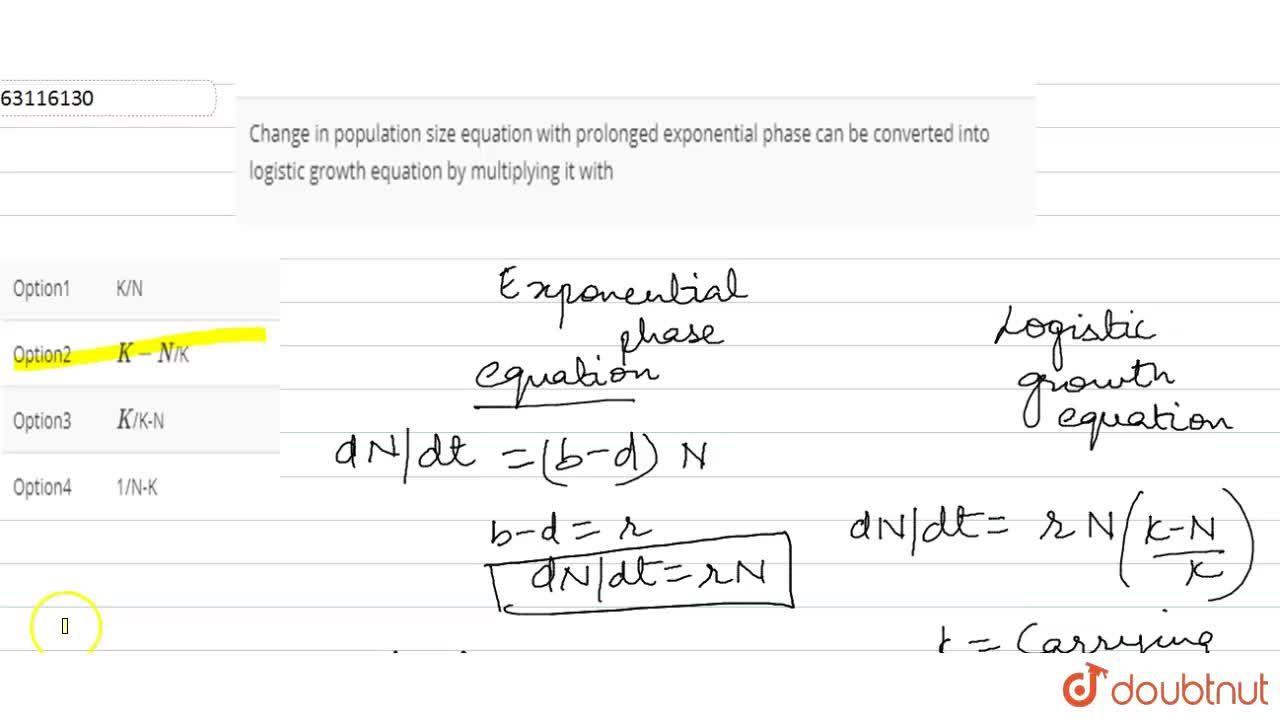 Solution for Change in population size equation with prolonged