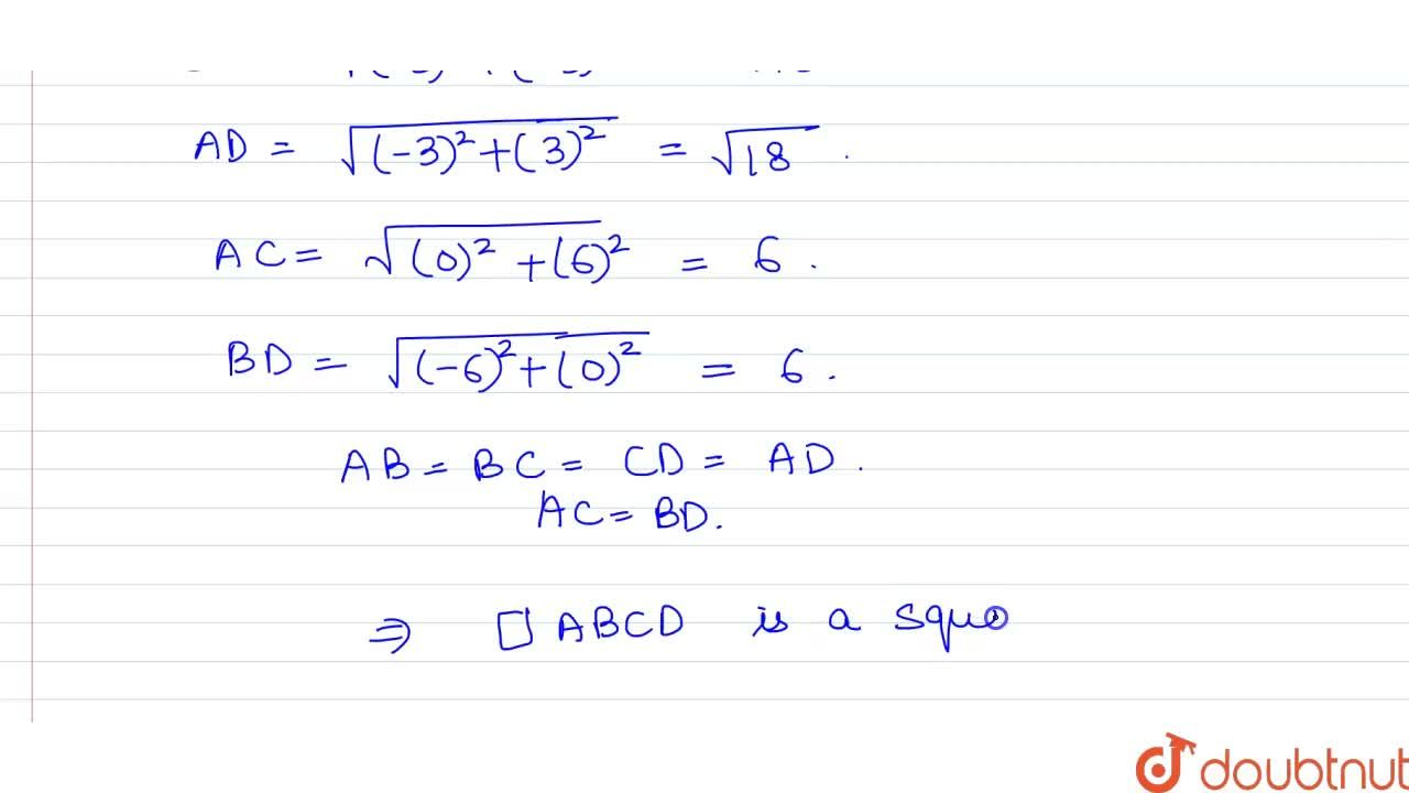 Solution for Show that the following points are the vertices of
