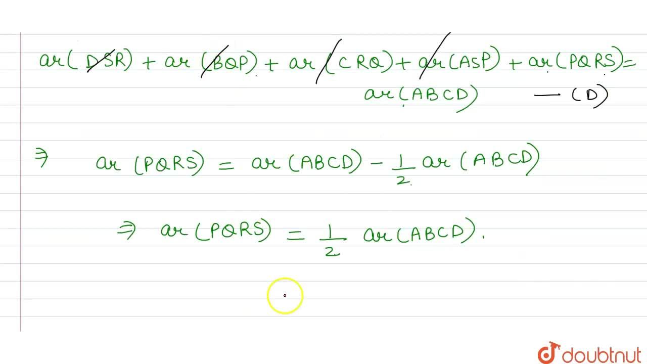 Solution for Let P, Q, R, S be respectively the midpoints of th
