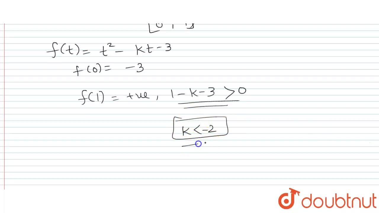 Solution for If the equation sin ^(2) x - k sin x - 3 = 0 has