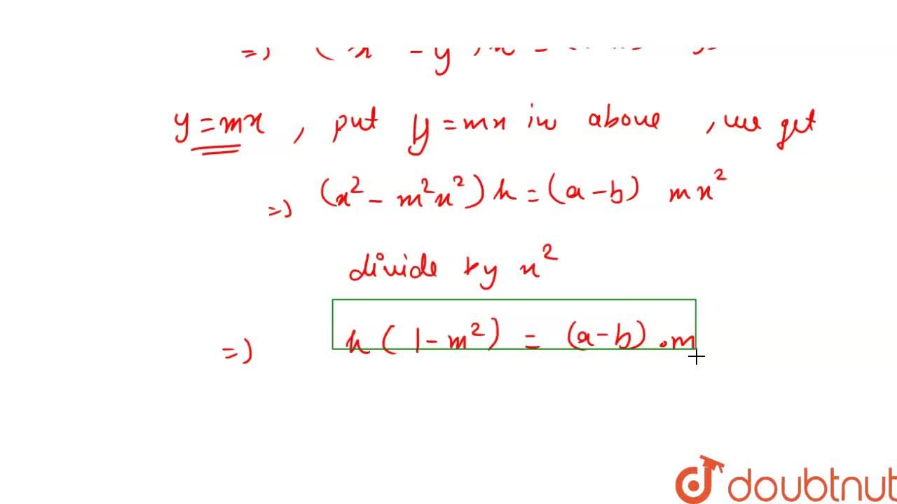 Solution for The lines y = mx bisects the angle between the l
