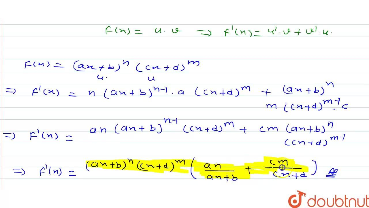 Solution for (ax+b)^n(cx=d)^m