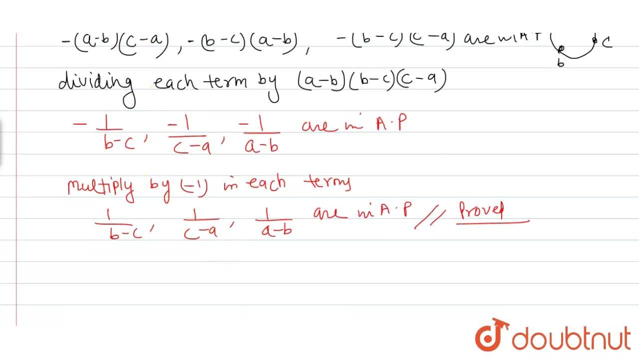 Solution for if  (a^(2) +2bc) ,( b^(2) +2ac) ,(c^(2) +2ab)  a