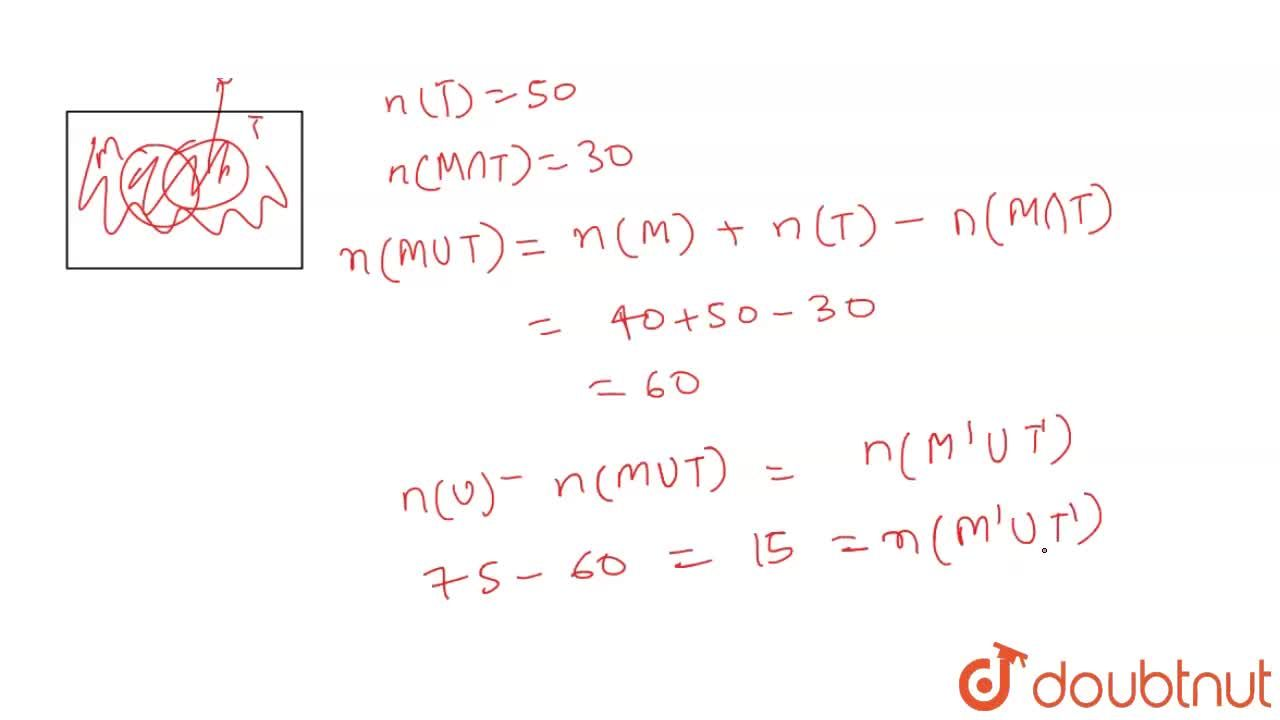 Solution for In a class of 75 students, 40 take milk, 50 take t