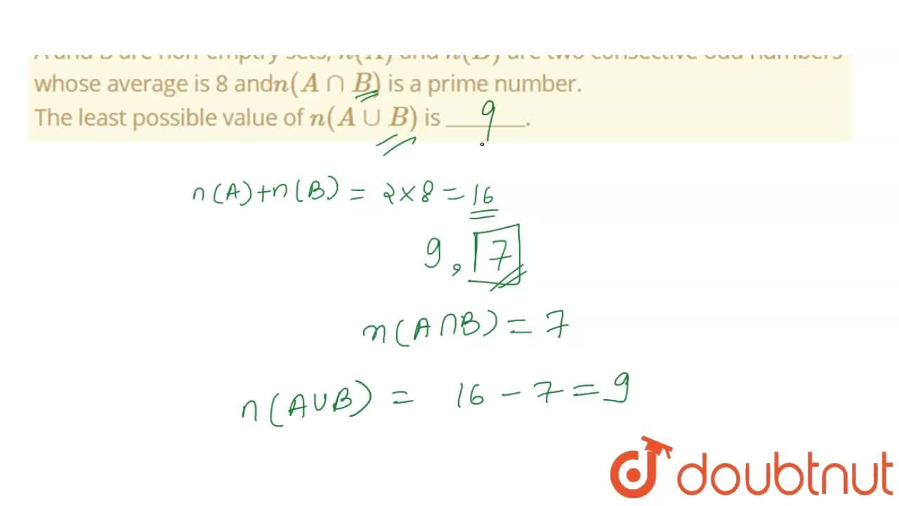 Solution for A and B are non-emptry sets, n(A) and n(B) are