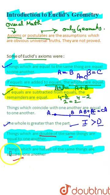 Solution for Introduction and Euclid's Axioms