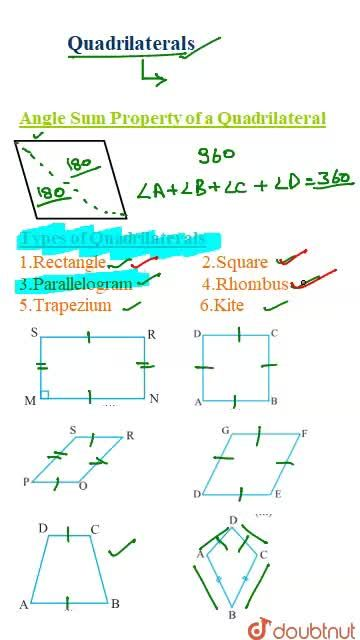 Solution for Introduction and Types of Quadrilaterals