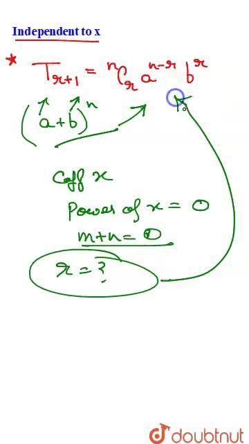 Solution for Expansion and General terms of Binomial Theorem