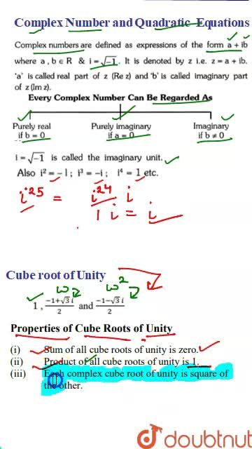 Solution for Introduction and Cube root of Unity