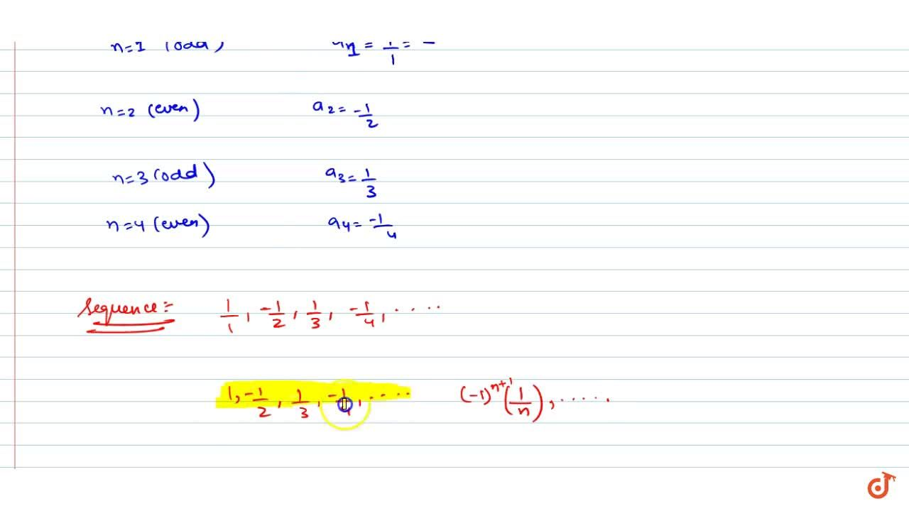 Solution for  Find the sequence of the numbers defined by-, whe