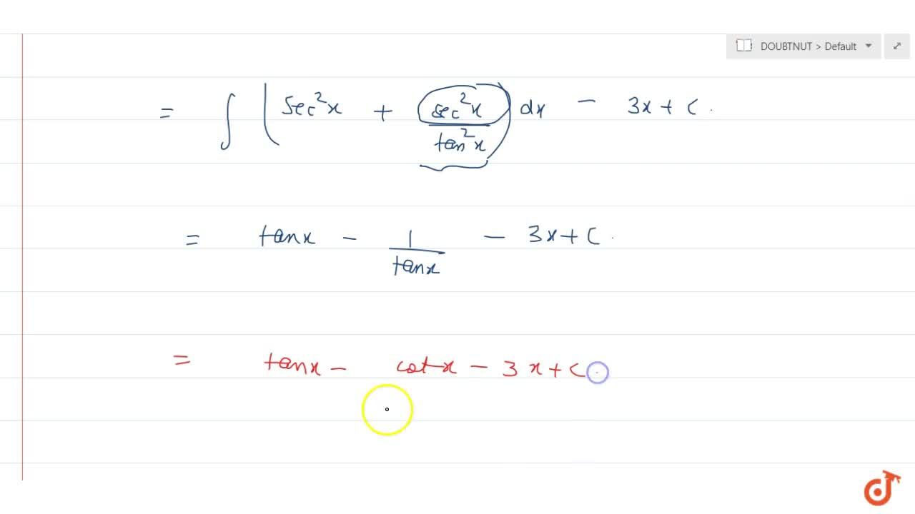 Solution for   int\ (sin^6x + cos^6x),(sin^2 x*cos^2x)\ dx (