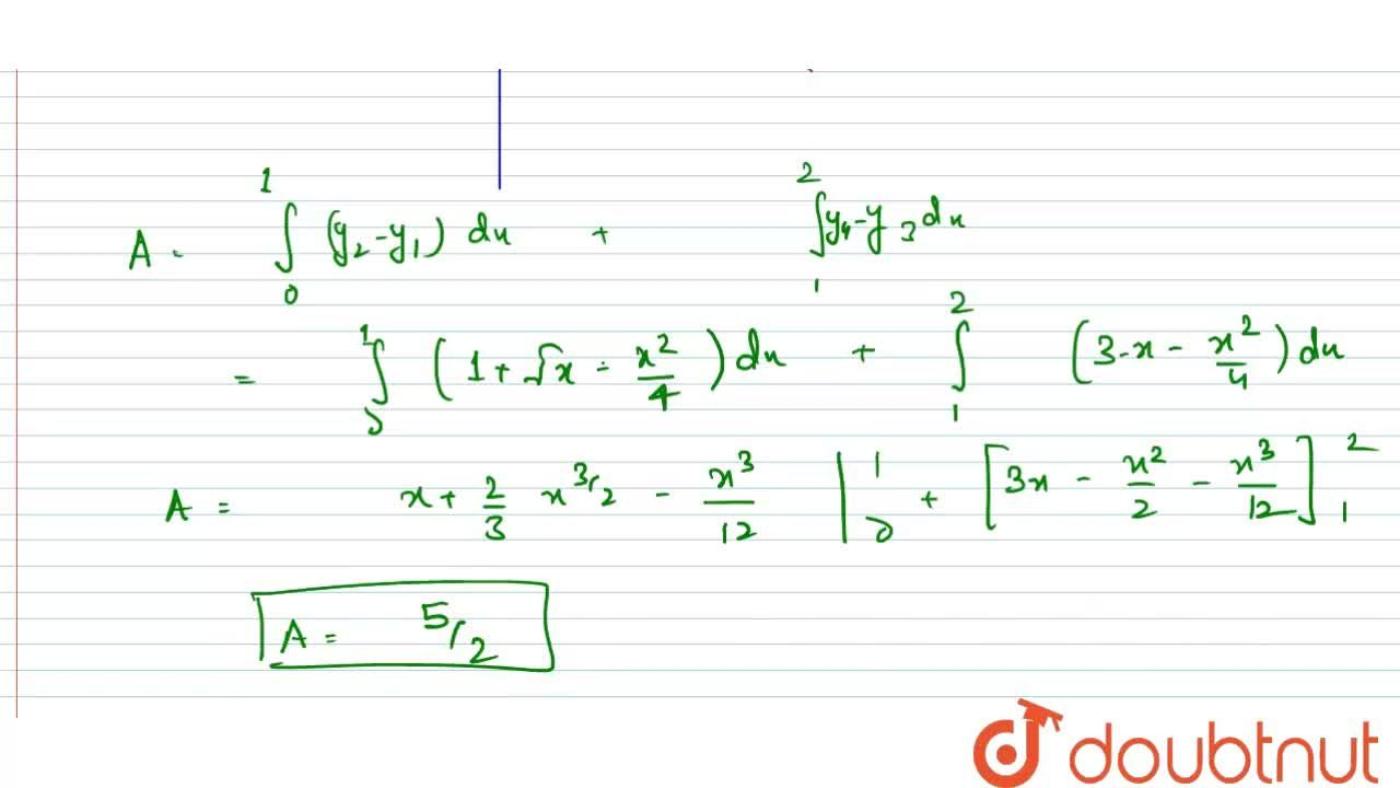 Solution for The area (in sqaure units) of the region {(x,y):x