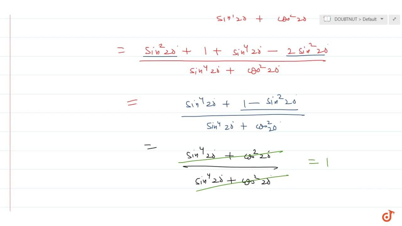 Solution for The value of (sin^2 20^@ + cos^4 20^@),(sin^4 20^