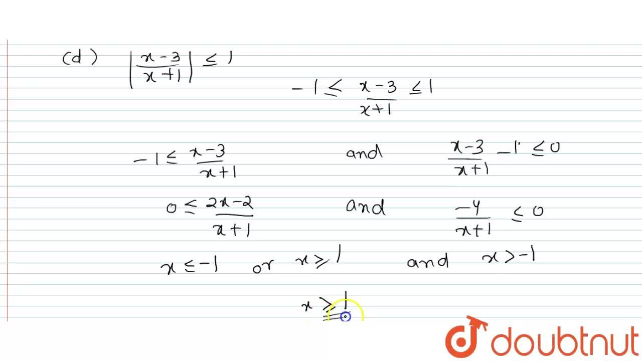 """Solution for Solve the following : <br> (a) 1 le 