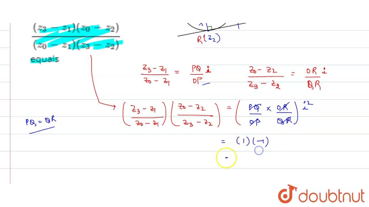 Solution for If the tangents at z_(1), z_(2) on the circle