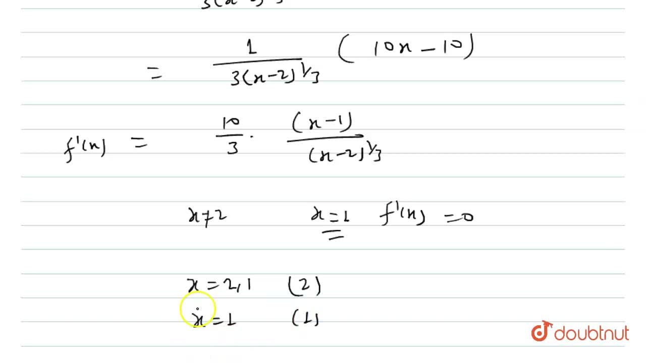 Find the critical points(s) and stationary points (s) of the function f(x)=(x-2)^(2,,3)(2x+1)