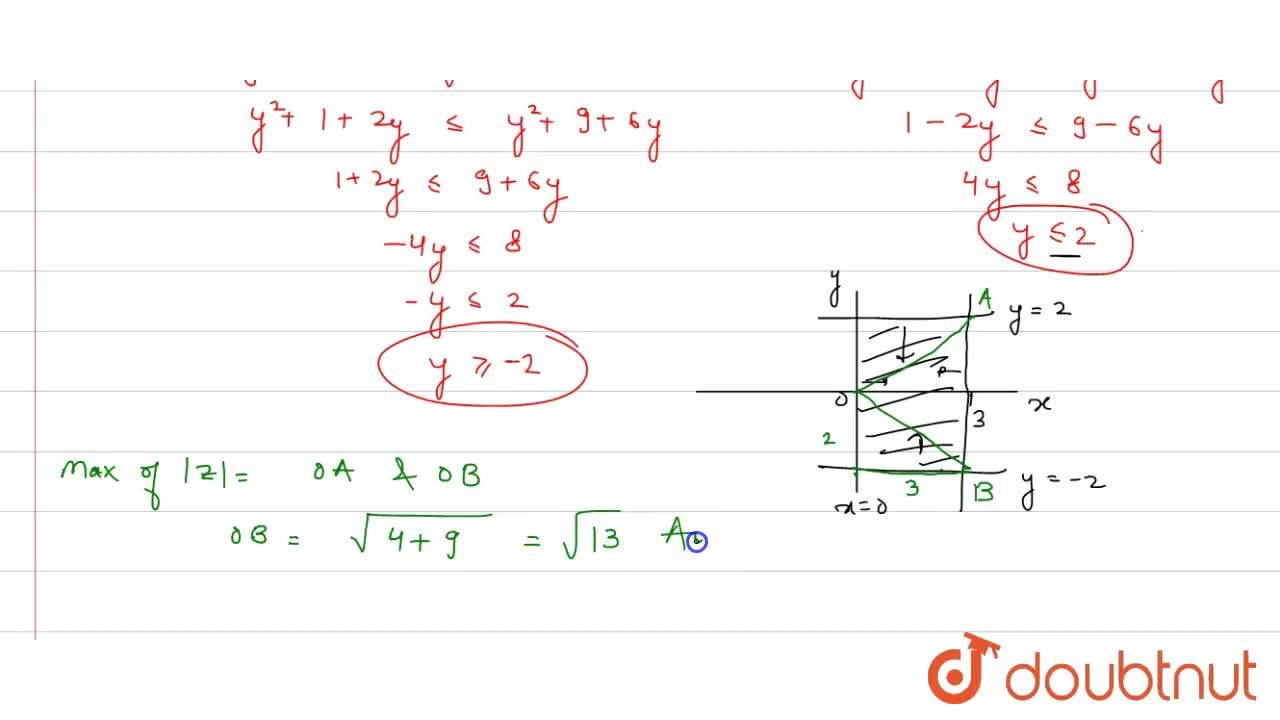 Consider the region R in the Argand plane described by the complex number. Z satisfying the inequalities |Z-2| le |Z-4|, |Z-3| le |Z+3|, |Z-i| le |Z-3i|, |Z+i| le |Z+3i| <br> Answer the followin questions : <br> The maximum value of |Z| for any Z in R is