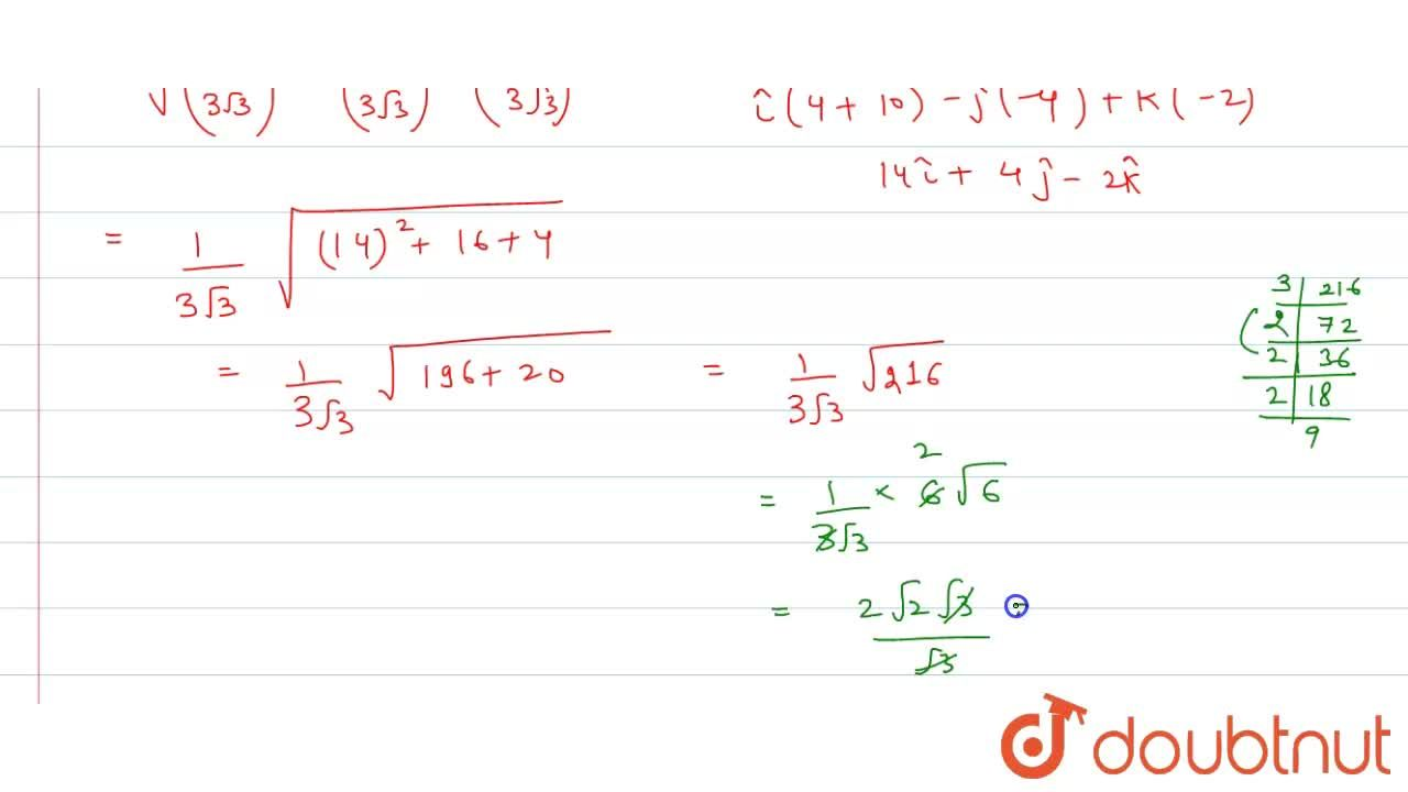 Solution for Vertices of a parallelogram taken in order are A,