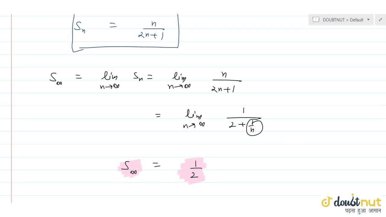 Find sum of the following series to n terms and to infinity: sum_(r=1)^n 1,(4r^2-1) .