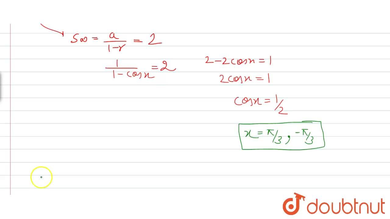 Solution for The value of x which satisfies  8^(1+cos x+cos^(2