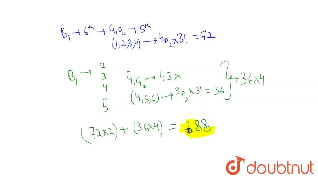 Solution for Find the number of ways in which 3 boys and 3 girl