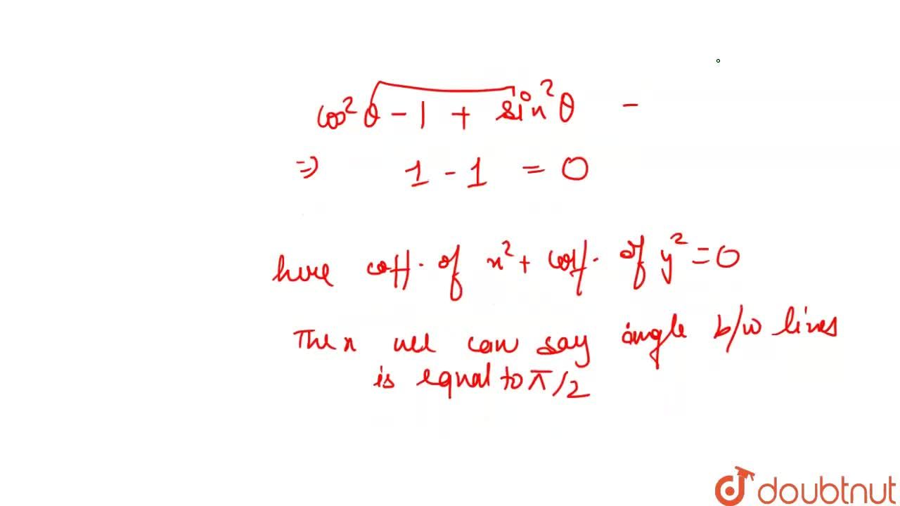 Solution for The angle between the pair of straight lines y^2s
