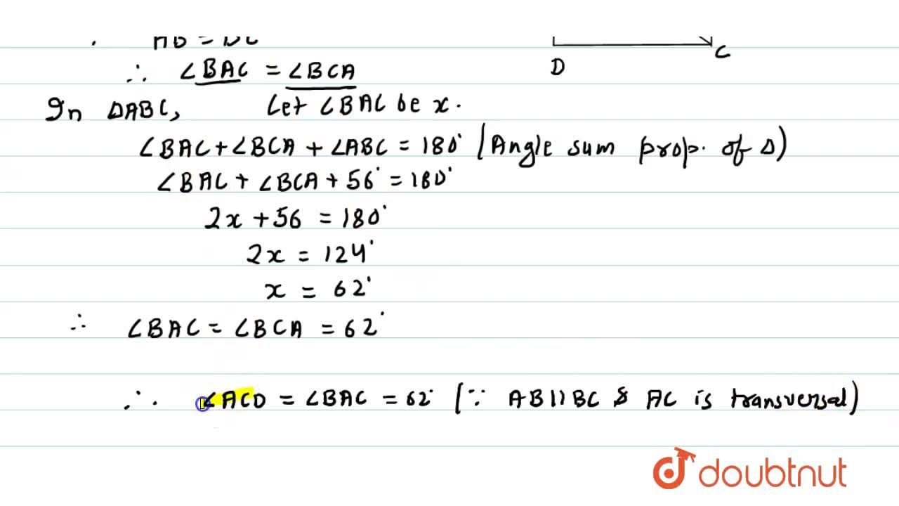 If A B C D is a rhombus with ,_A B C=56^0, find the measure of ,_A C D