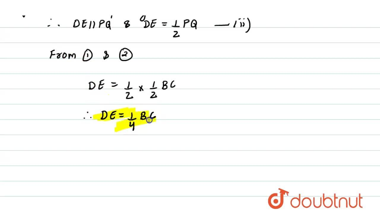 Solution for A B C is a triangle. D is a point on A B suc