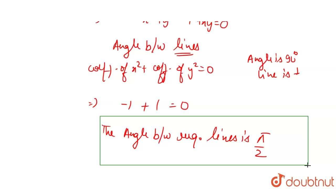The angle between lines joining origin and intersection points of line 2x+y=1 and curve 3x^2+4yx-4x+1=0, is