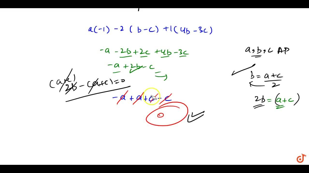 Solution for If a ,\ b ,\ c are in A.P. prove that the straig