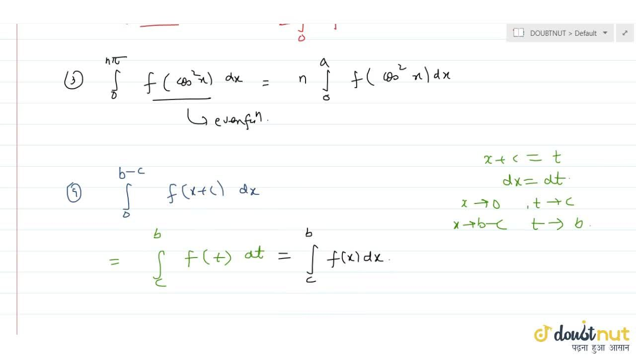 Solution for   Which of the following are true ? (i) int_a^(p