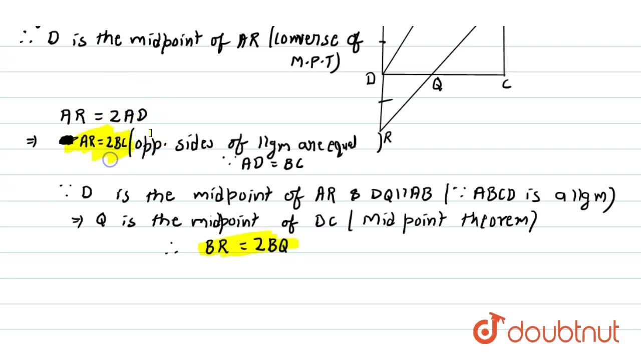 P is the mid-point of