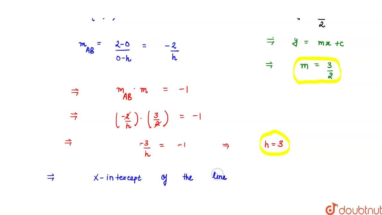 If a line with y-intercept 2, is perpendicular to the line 3x -2y =6, then its  x-intercept is