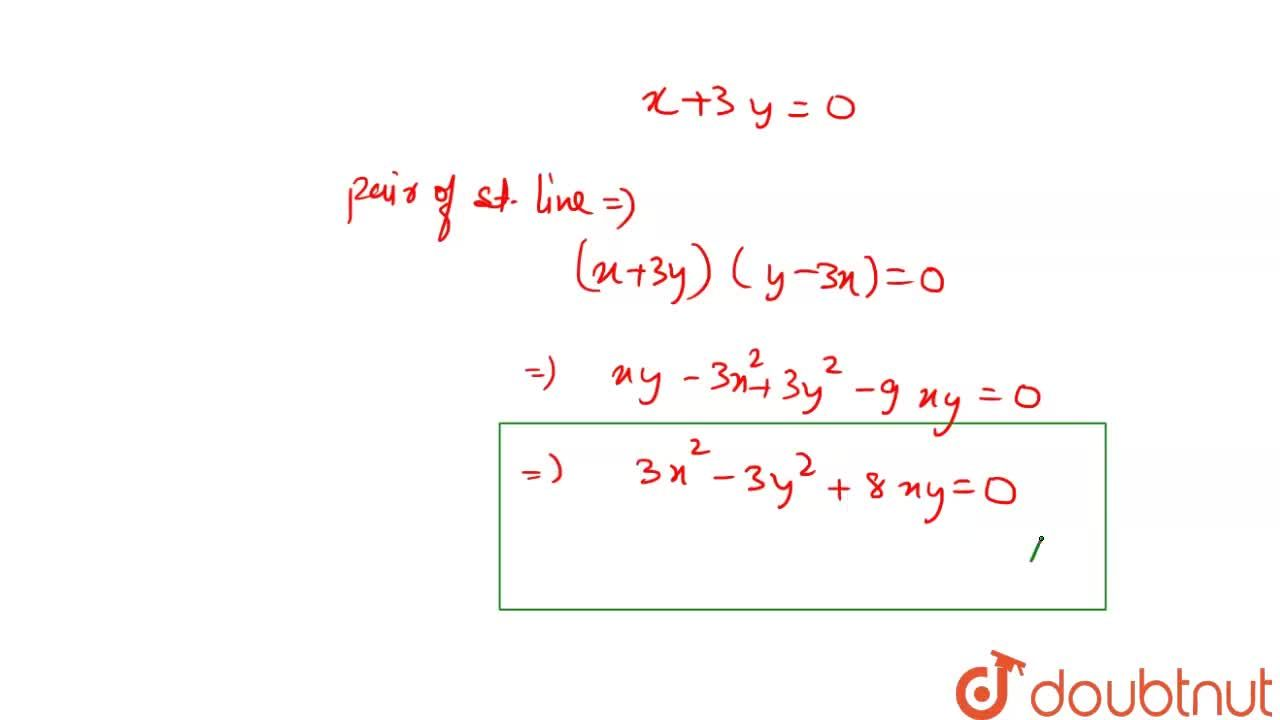 Solution for The pair equation of the lines passing through the