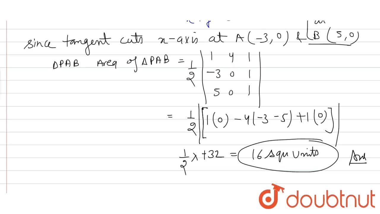 Solution for The tangent and the normal drawn to the curve y=x
